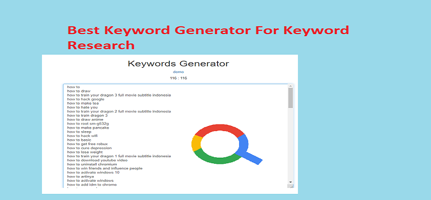Best Keyword Generator For Keyword Research