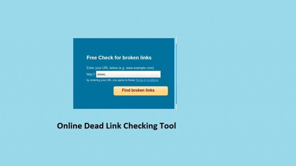 Online Dead Link Checking Tool