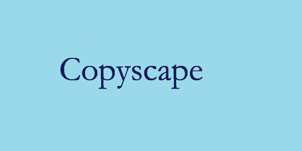 Copyscape duplicate checker