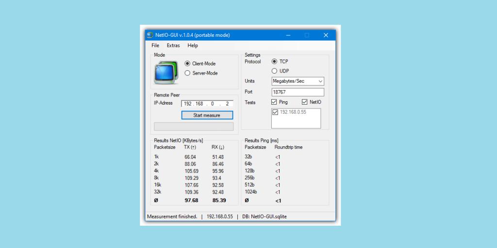 NetIO-GUI Best LAN Speed Test Software