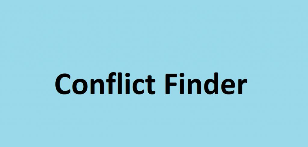 Conflict Finder