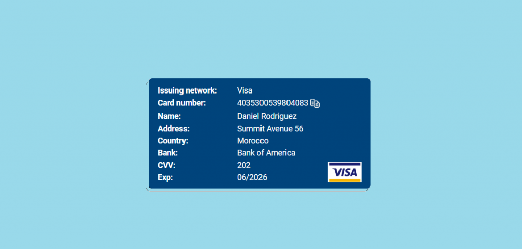 Visa Credit Card Number Generator