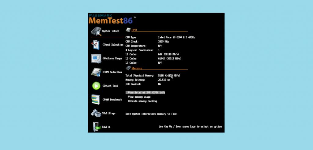 memtest86 ram test