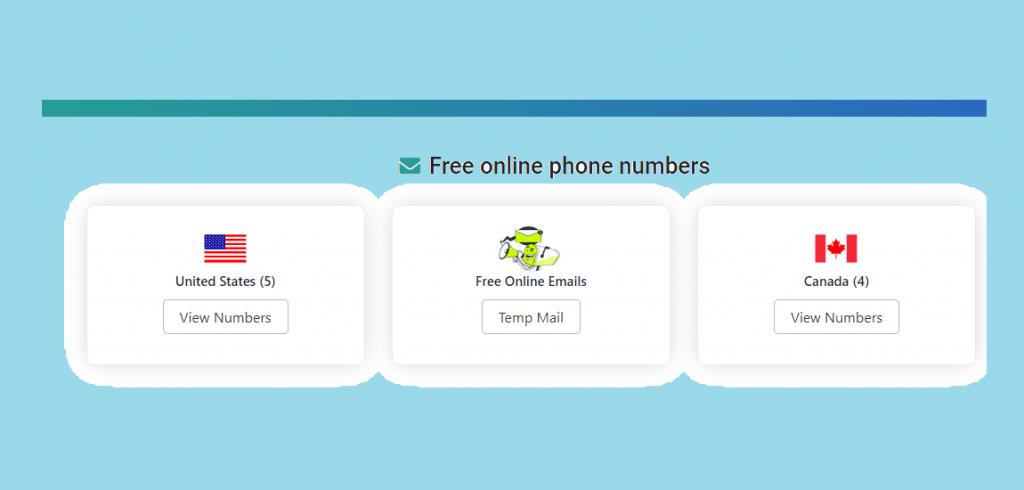 Free online phone numbers