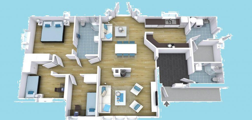 3D View of Floor Plan Designs