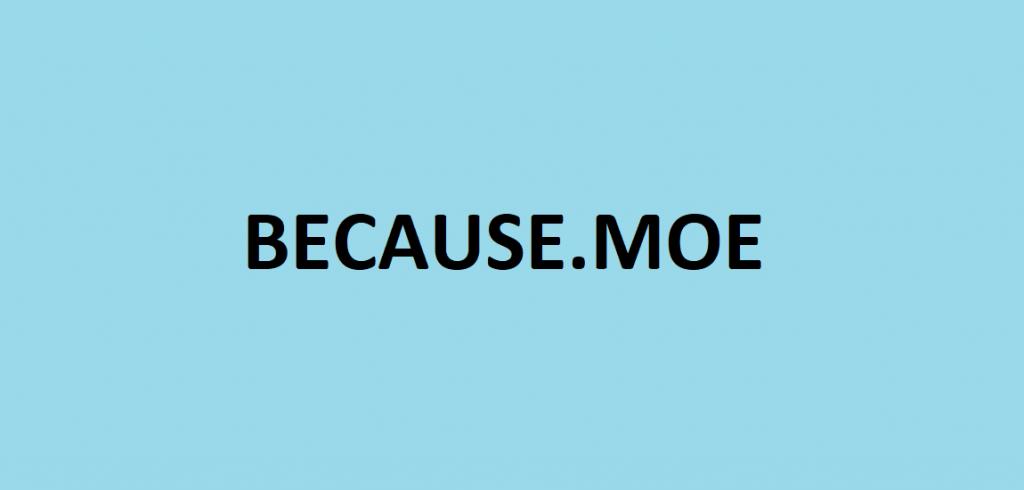 BECAUSE MOE