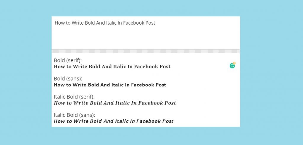 Bold And Italic In Facebook Post