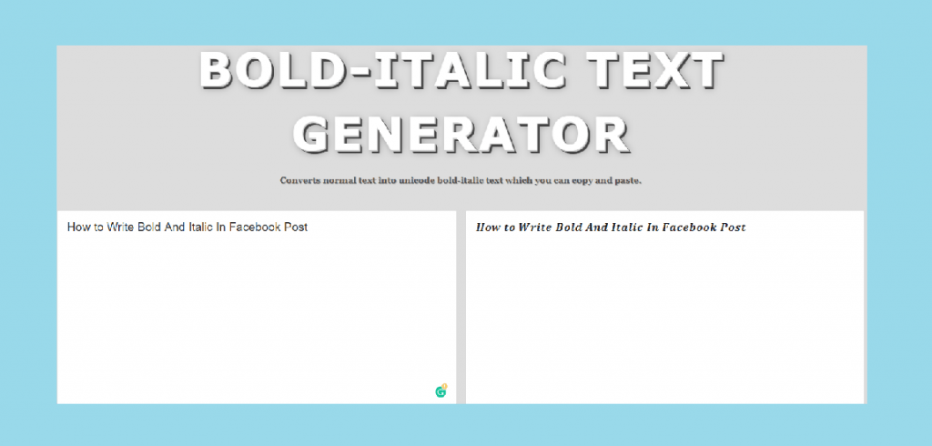 bold and italic text generator