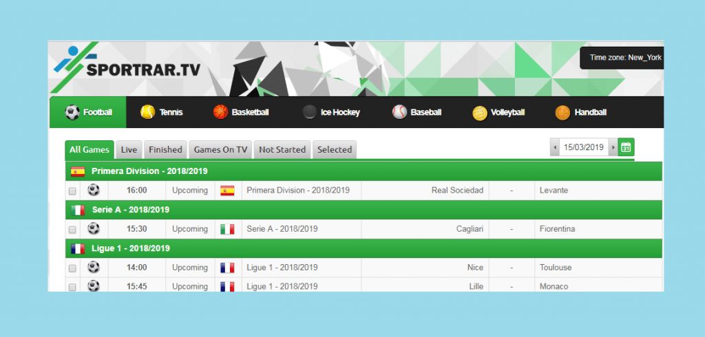 sports streaming site