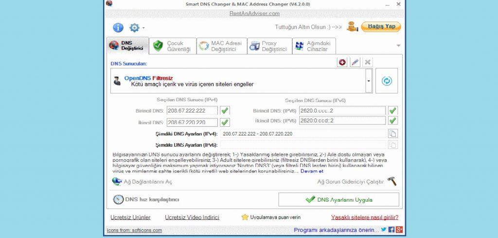 DNS Changer MAC Address Changer