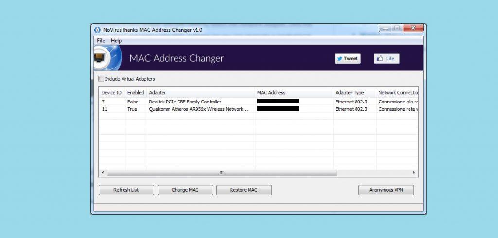 MAC Address Changer