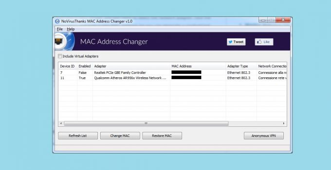 MAC Address Changer