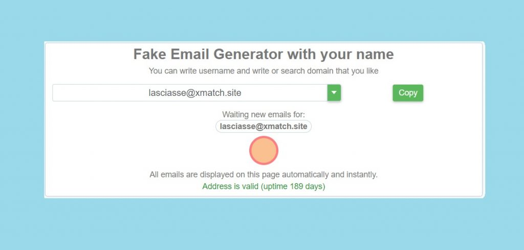 Fake Email Generator with your name