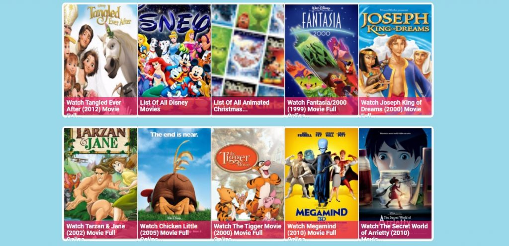 Disney cartoons online for free