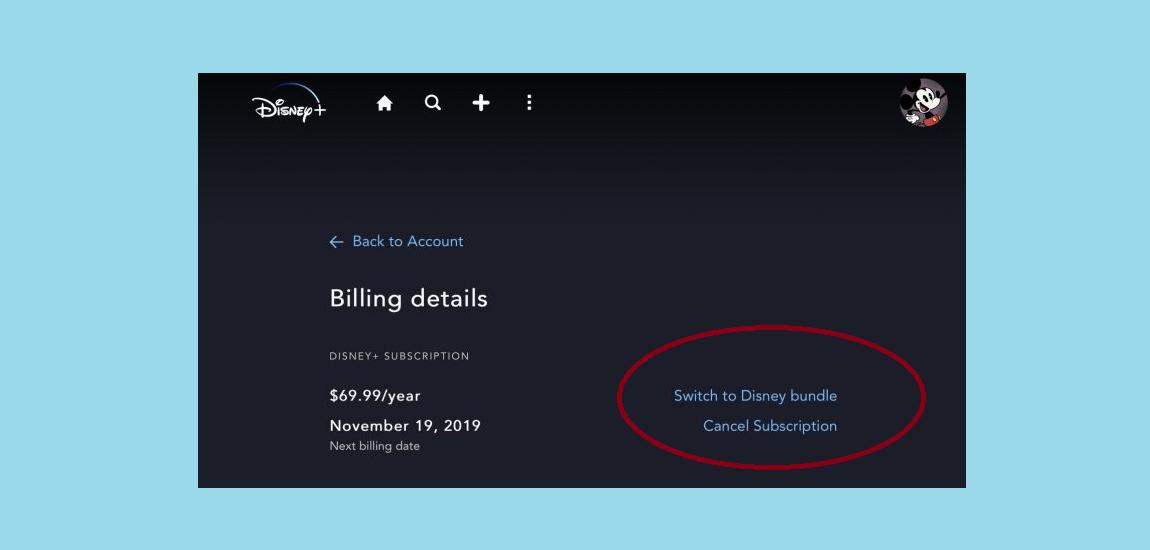 Disney Plus cancel subscription