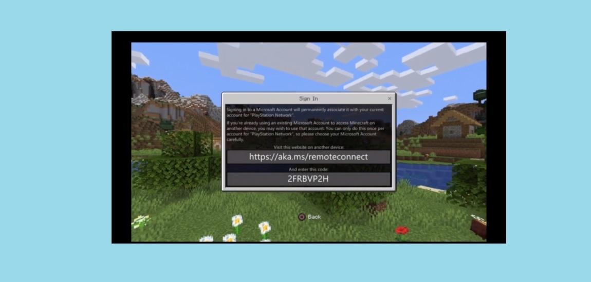 minecraft PS4 error