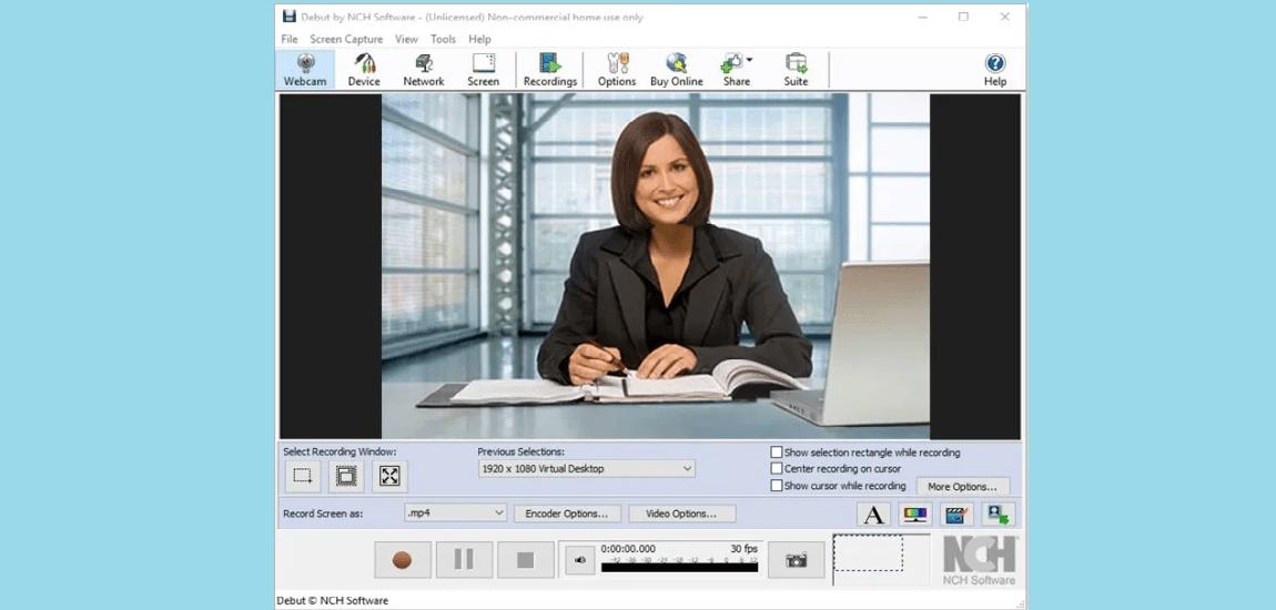 nch webcam software